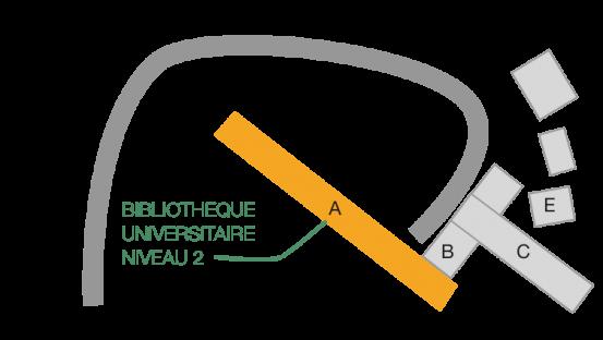 Plan du campus de l'Espe de Guadeloupe