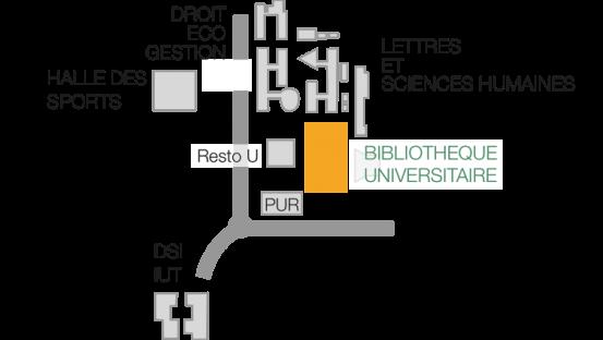 Plan du campus de Schœlcher